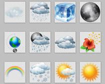 彩色精致天气PNG图标