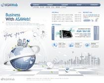 韩国网络公司网站设计PSD源文件