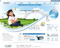 关爱儿童网站设计PSD源文件