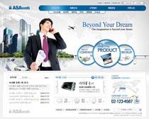 商务科技公司网站设计PSD源文件