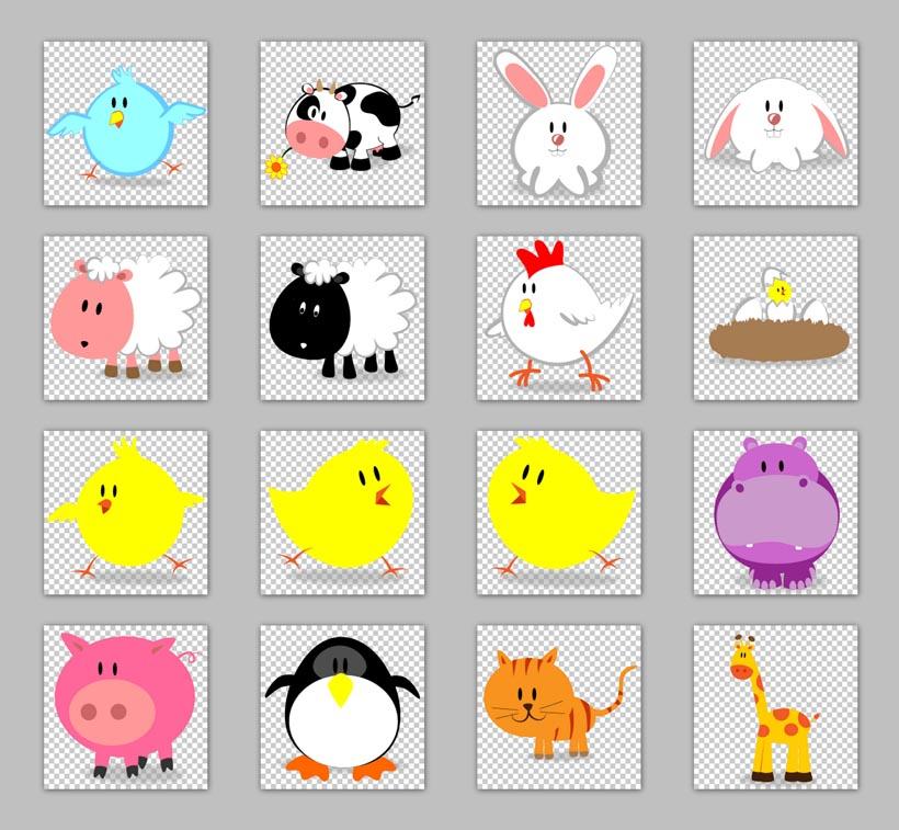 可爱的小动物十二生肖png图标