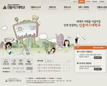 卡通风格校园网站PSD源文件