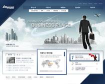 韩国企业公司蓝色网站PSD源文件
