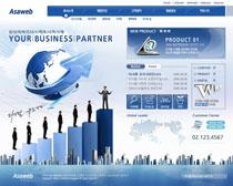 韩国商业化网站设计PSD源文件