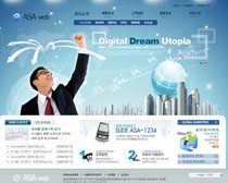 公司形像网站设计PSD源文件