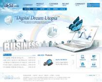 办公笔记本商务网站PSD源文件