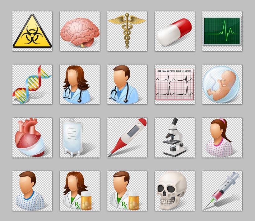 大脑dna医疗头骨png图标
