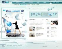 创意科技公司网页设计PSD源文件
