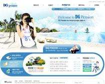 旅游韩国网站设计PSD源文件