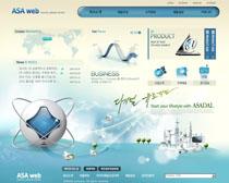 韩国科技公司网站PSD源文件