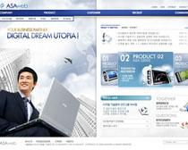 蓝色科技发展网页PSD源文件