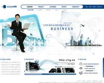 数码发展科技蓝色网页PSD源文件