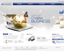 韩国数据分析网站PSD源文件