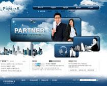 韩国房地产公司网站PSD源文件