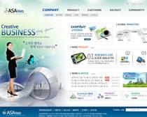 蓝色电子网站PSD源文件