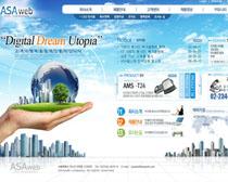 创意韩国公司网站PSD源文件
