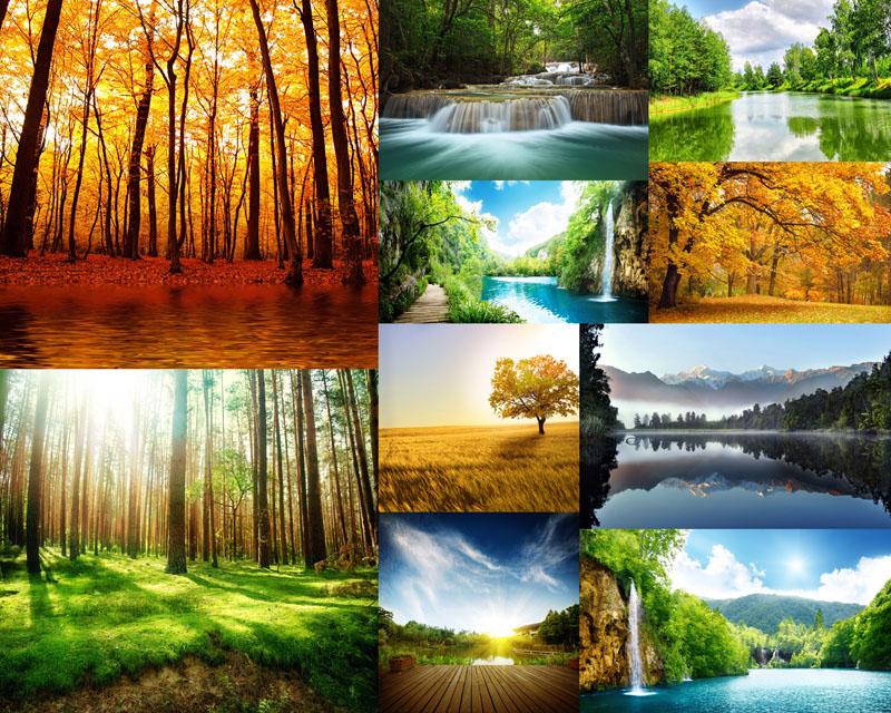 关键字: 漂亮风景自然风景景色风光秋天景色春天风景河流大自然森林