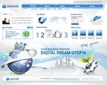 科技韩国网站设计PSD源文件