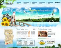 韩国别墅地产网站PSD源文件