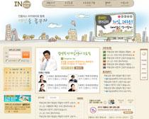 淡色韓國網頁設計PSD源文件