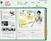 关爱小孩网站设计PSD源文件