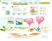 韩国幼儿园卡通网站PSD源文件