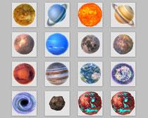 漂亮的宇宙星球PNG图标
