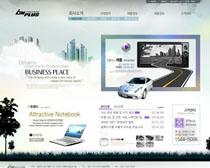 数码产品韩国网站PSD源文件