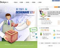 韩国卡通办公网PSD源文件