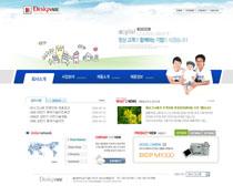 蓝色幸福家庭个人网站PSD素材