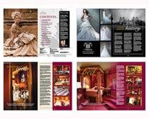 婚礼婚纱杂志设计矢量素材