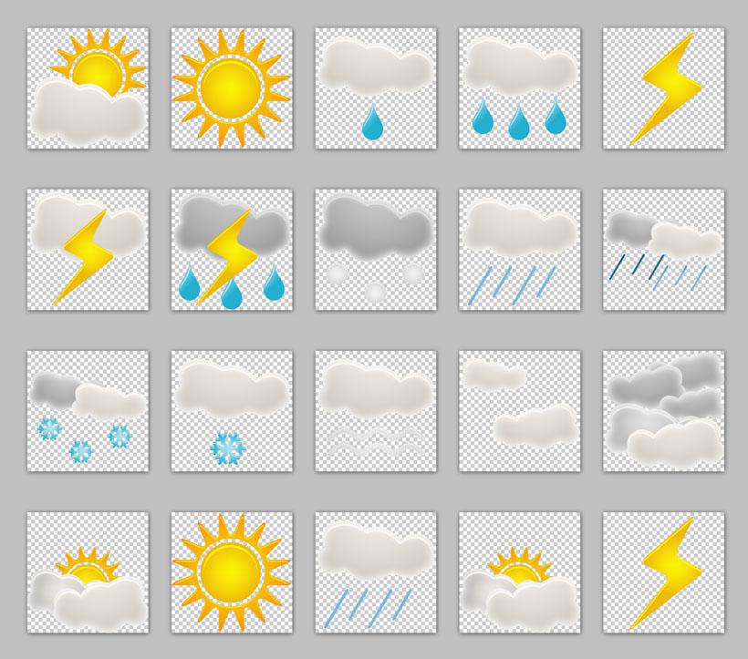 天气情况png图标 彩色精致天气png图标 超全手绘天气png图标