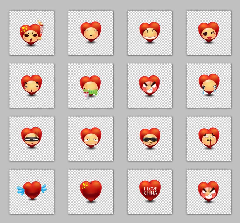 表情 中国心 聊天表情 爱心 创意表情 个性表情 qq头像 旺旺表情 微信