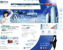 韩国平板电脑网页设计PSD源文件
