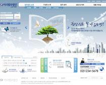 放飞梦想韩国公司网页PSD素材