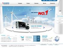 韓國數碼公司網站PSD源文件