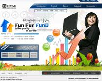 韩国分析网站设计PSD源文件