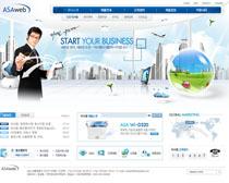 商务科技韩国网页设计PSD源文件