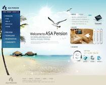 韩国旅游网设计PSD源文件