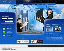 商业公司策划网页PSD源文件