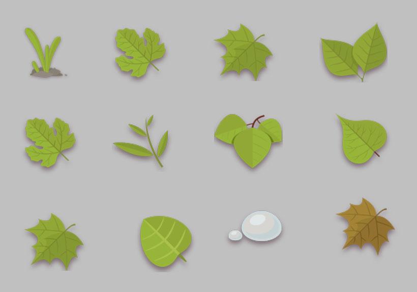 素材 设计 绿叶/春天的绿叶PNG图标