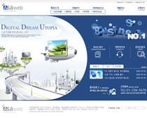 蓝色创意科技公司网页PSD源文件