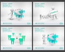 口腔美容广告展板设计PSD素材