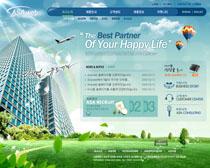 公司大廈企業網站PSD源文件