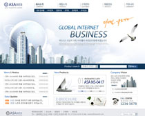 韩国公司地产网页PSD源文件
