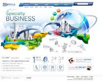 城市建筑韩国网站设计PSD源文件