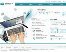 电脑科技文化网站PSD源文件