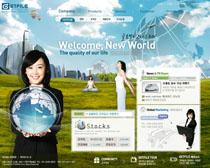 环保地球文化网站设计PSD源文件