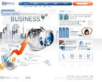 科技地球企業文化網站PSD源文件
