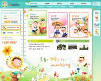 兒童娛樂園網站設計PSD源文件
